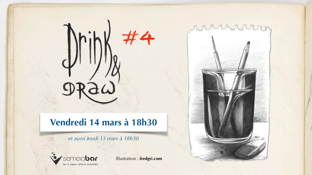 Drink and Draw #4 organisé par le Semeia Bar